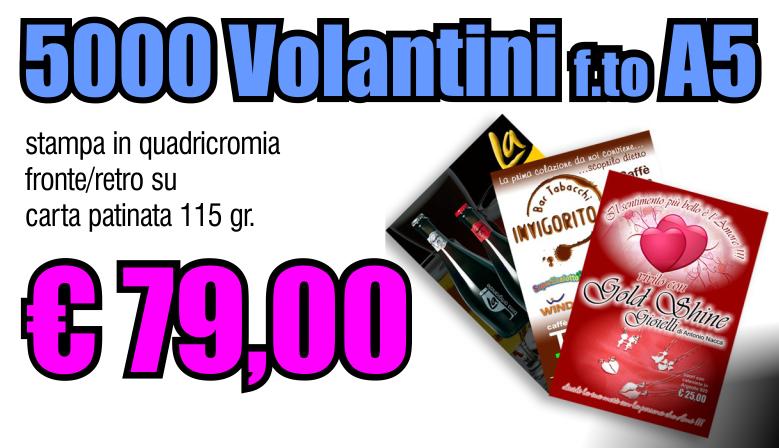 5000 volantini A5